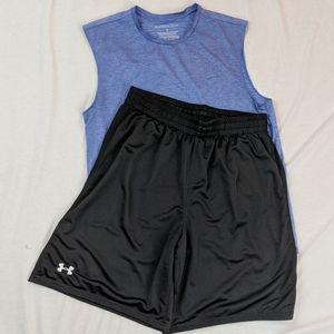 Under Armour Black Mesh Shorts, Size XL